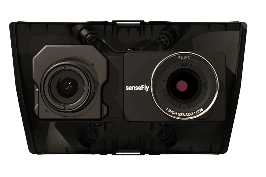 Drone thermal camera payload for sensefly ebee X