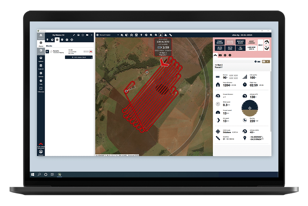 emotion drone mission planning for accurate mapping and survey aerial